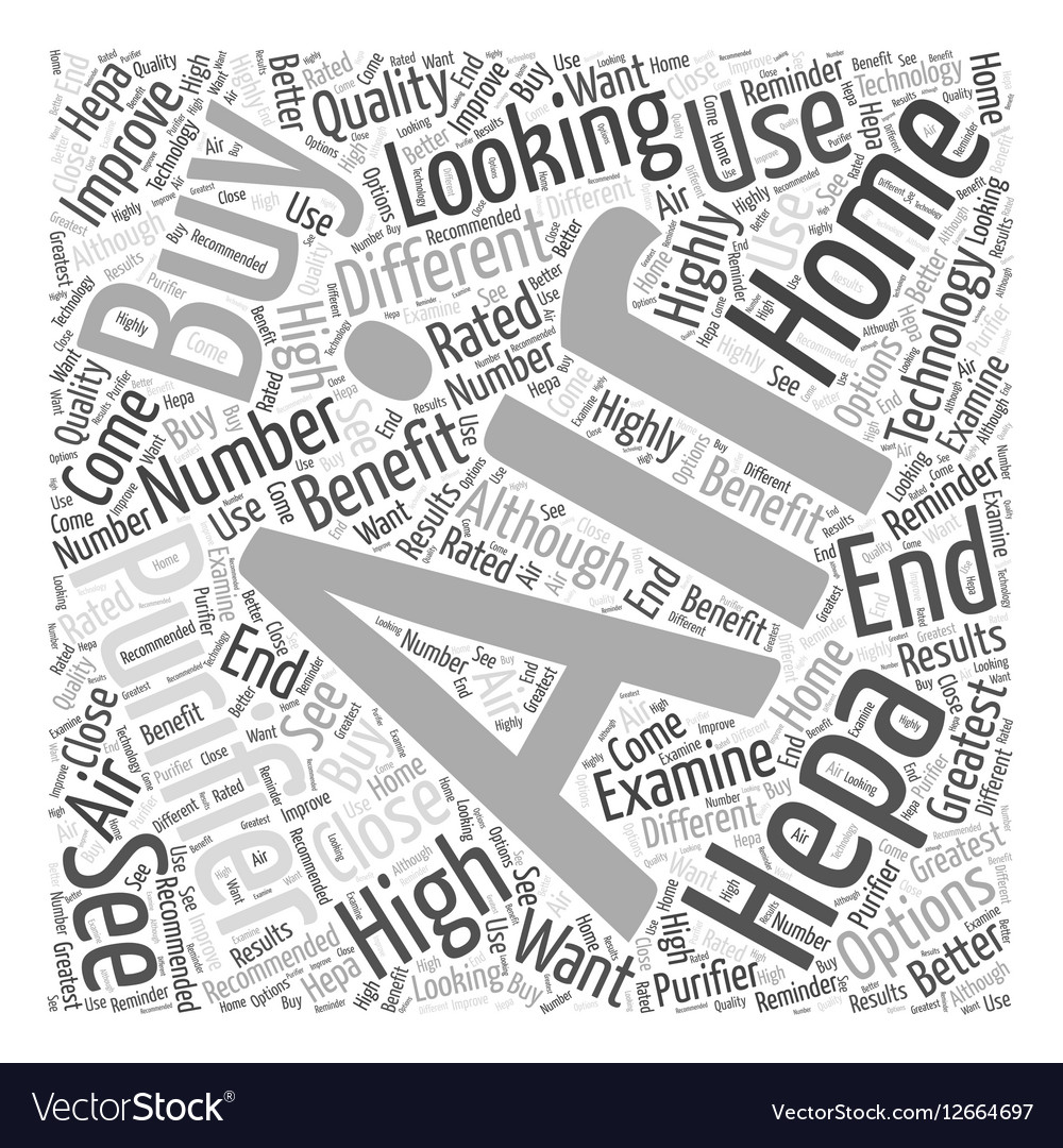 How to Buy HEPA Air Purifiers Word Cloud Concept