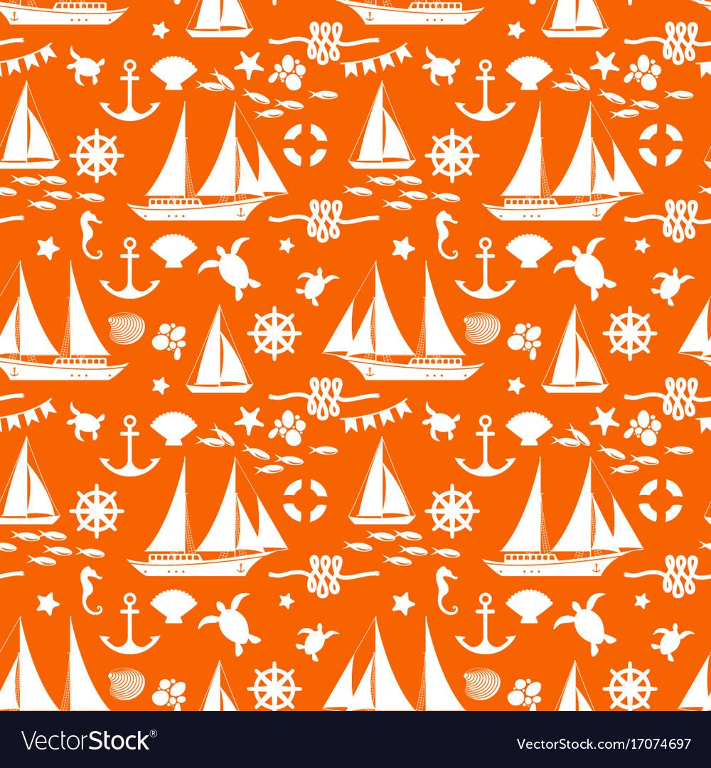 Orange summer seamless pattern