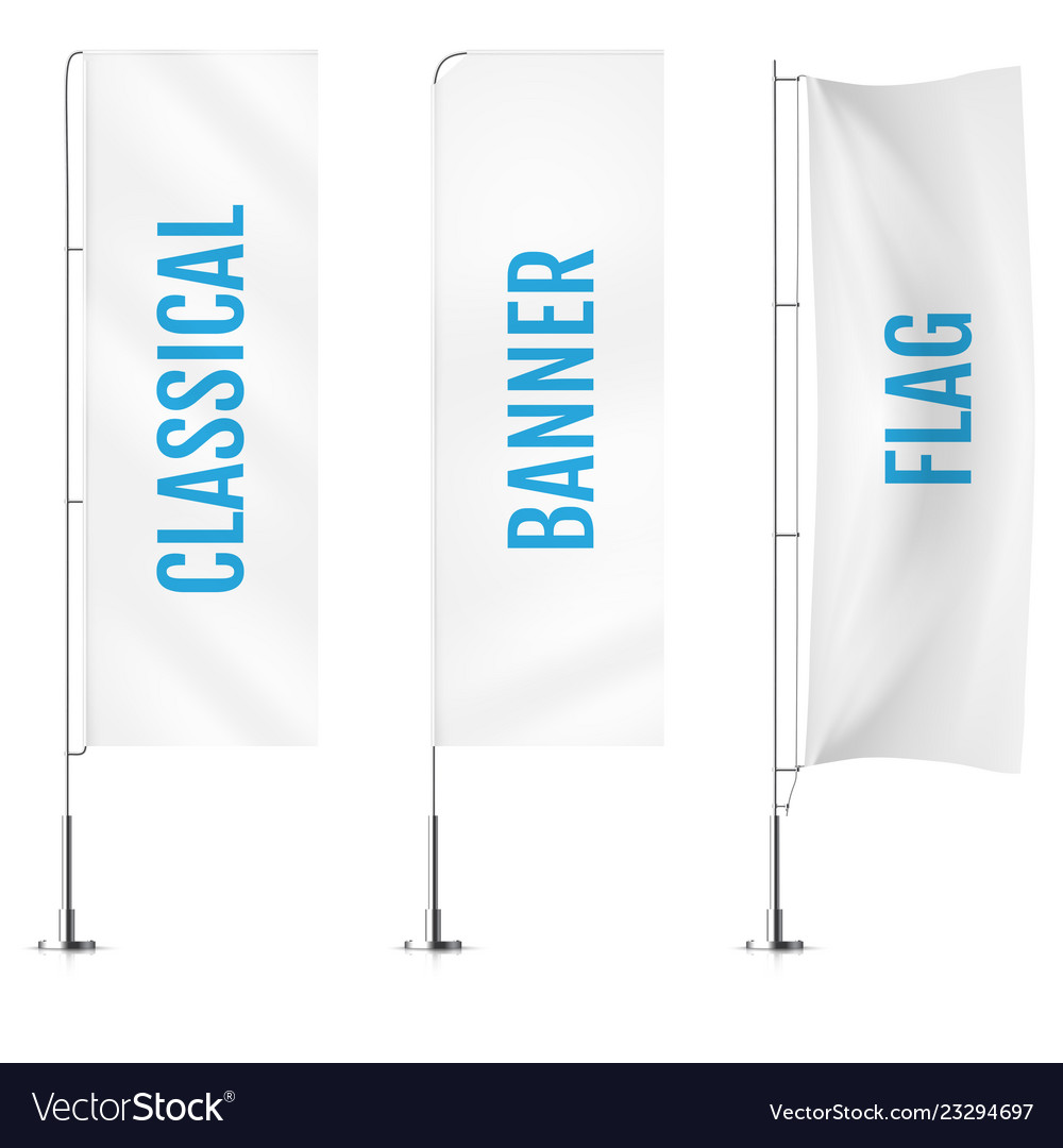 White textile classical banner flags banner flag
