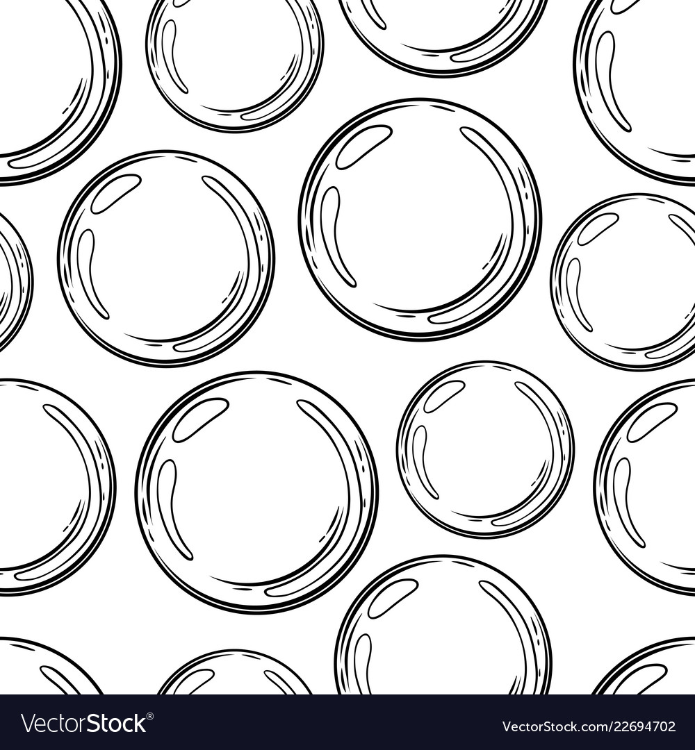 Air bubbles seamless pattern