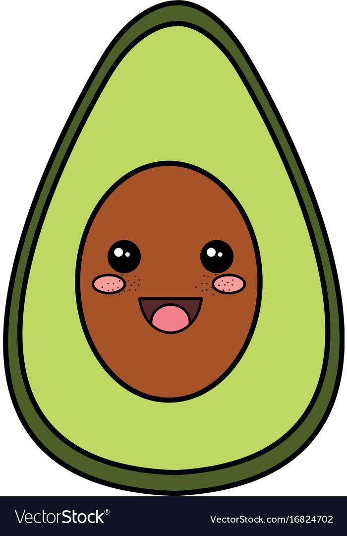 Авокадо картинки милые с глазками