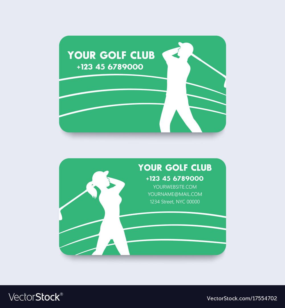 Business card design for golf club royalty free vector image business card design for golf club vector image colourmoves