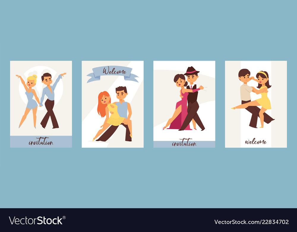 Dancing man and woman ballroom sports dances