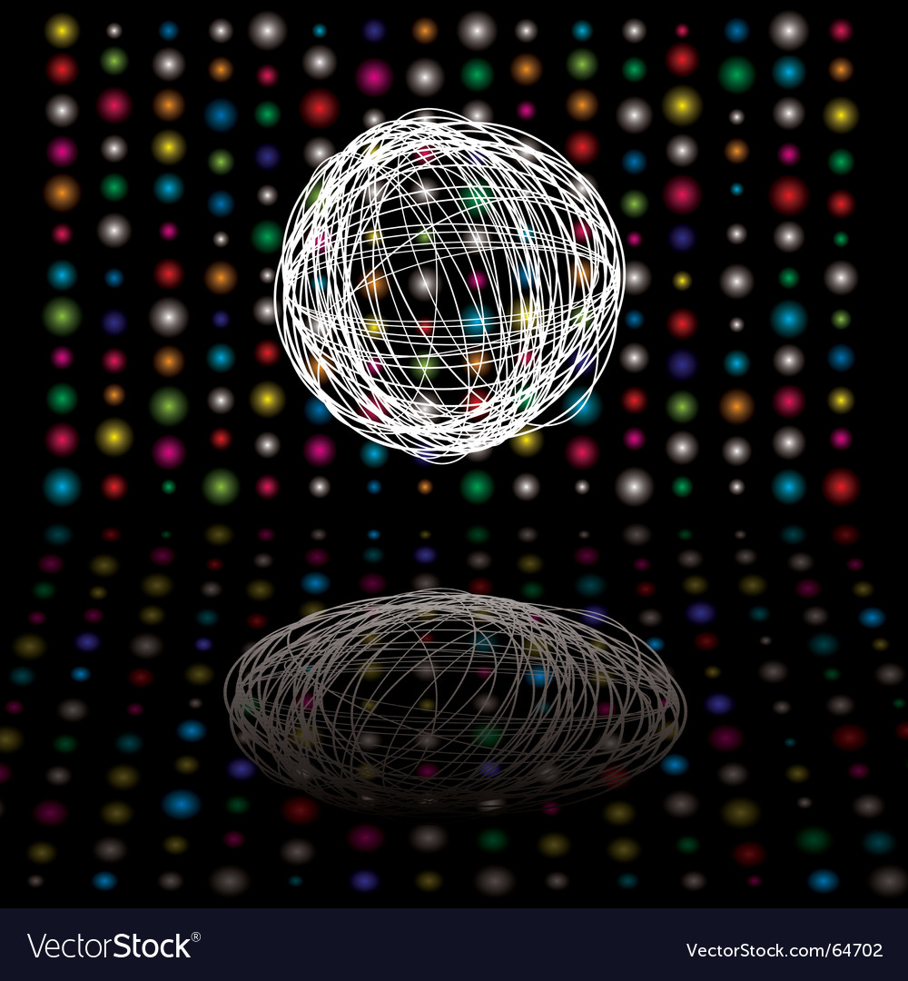 Disco scribble vector image