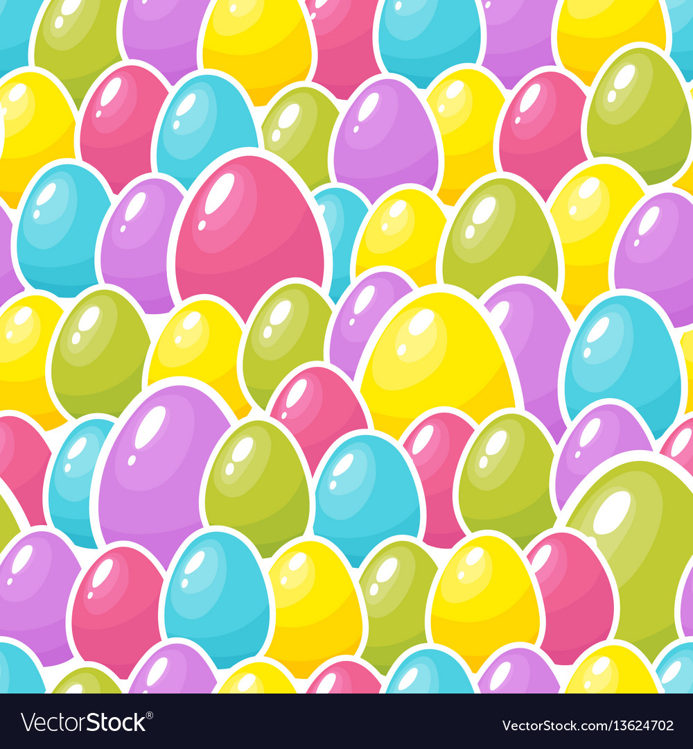 Easter colorful eggs background seamless pattern