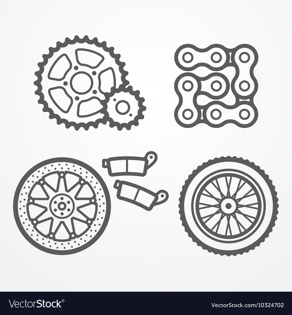 Motorcycle parts icons