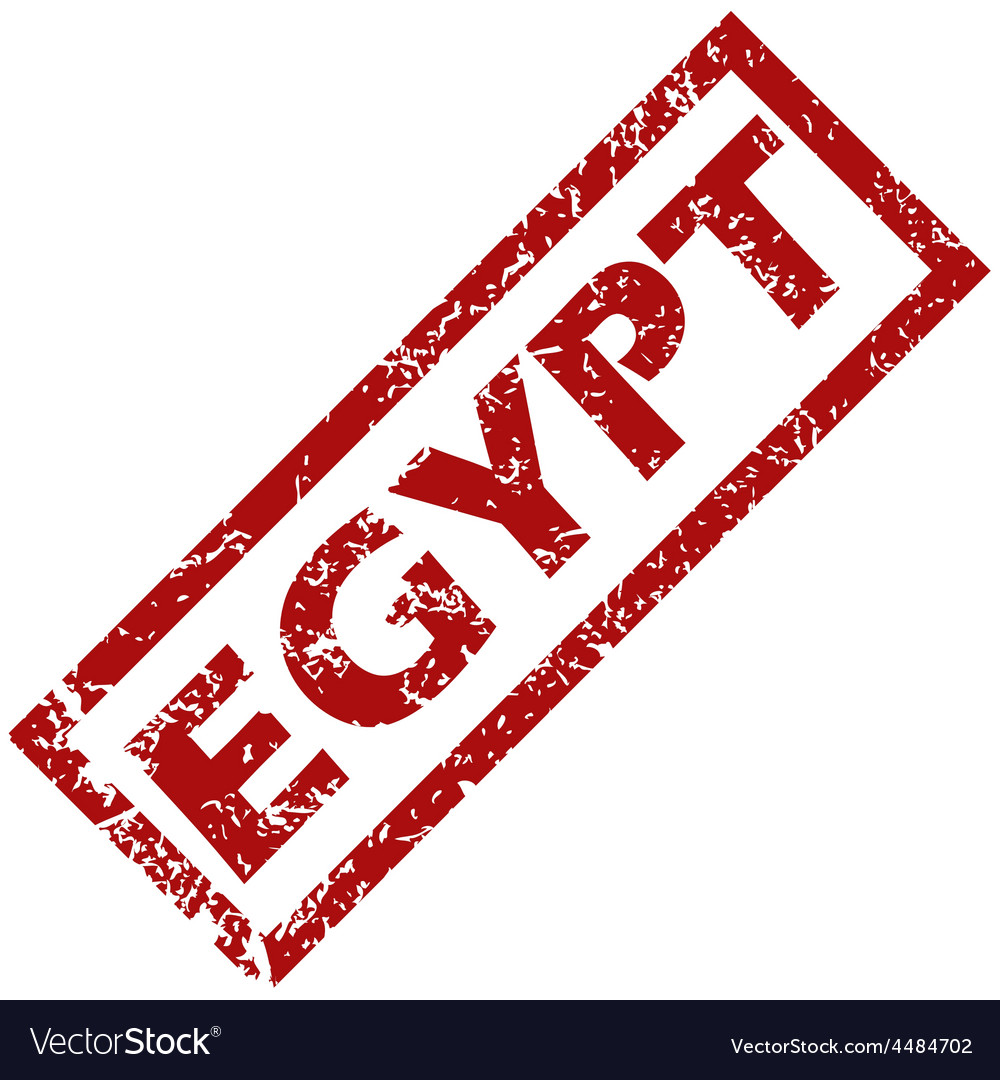 New Egypt rubber stamp vector image on VectorStock