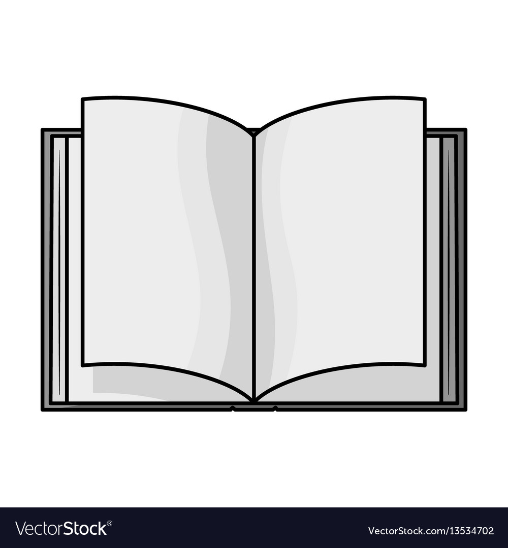 Opened book icon in monochrome style isolated on