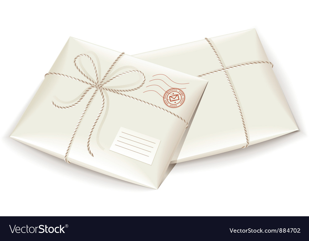 Parcel post tied with twine vector image