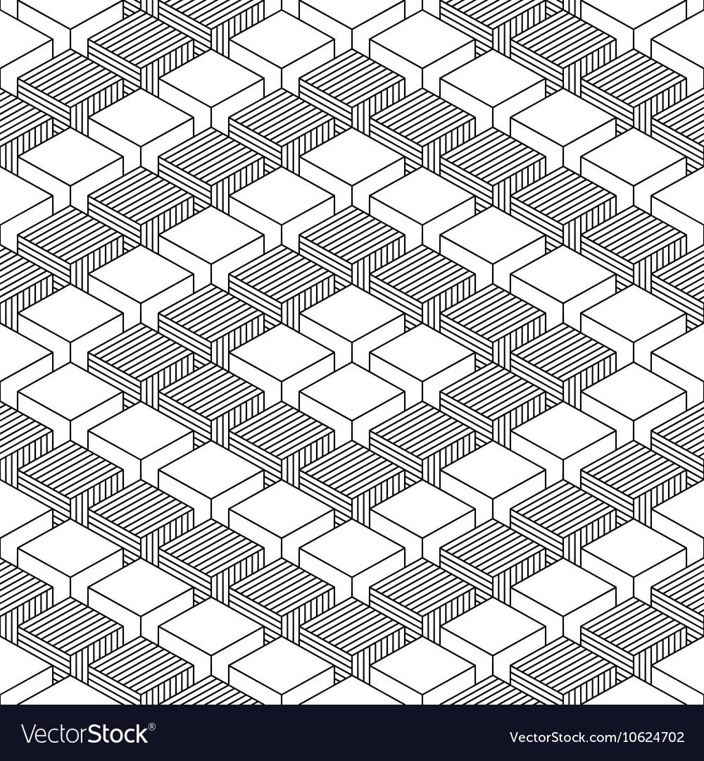 Seamless geometrical pattern vintage background