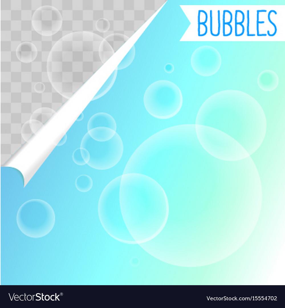 soap bubbles white shampoo clipart on transparent vector image vectorstock