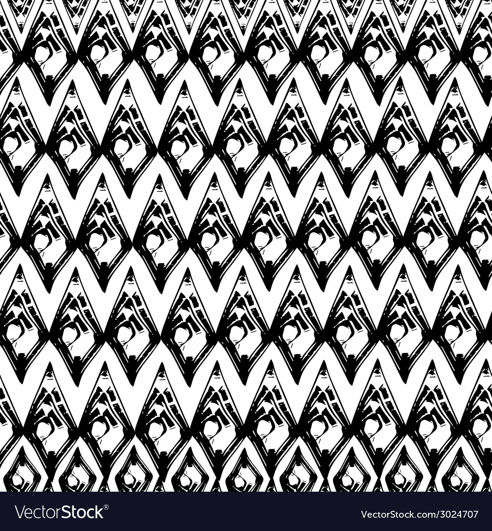 Abstract black and white grunge seamless pattern