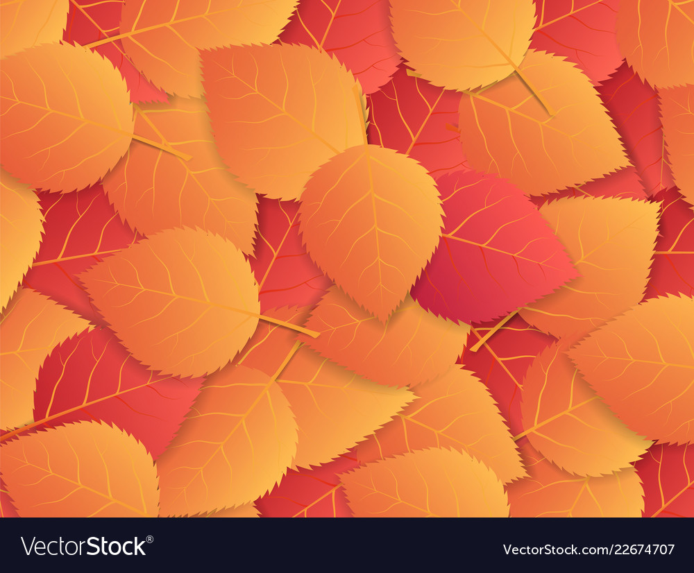 Autumn background with red and orange leaves