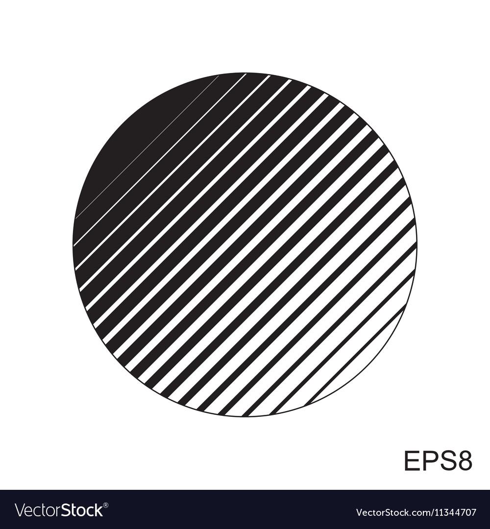Halftone striped circle