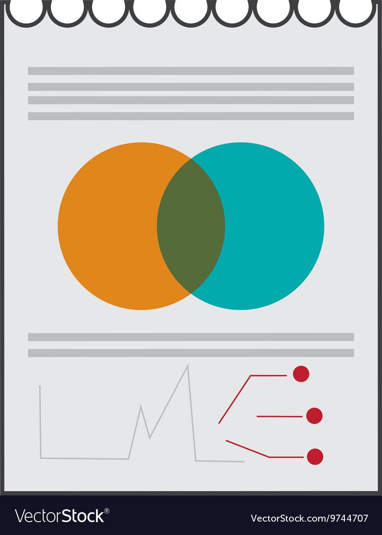 Paper diagram business icon
