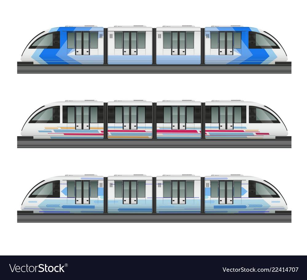 Passenger trains realistic set