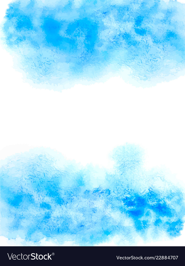 Watercolor blue abstract background abstract