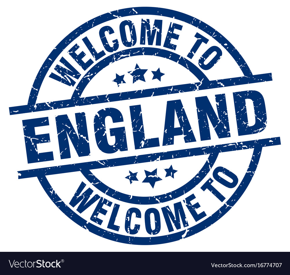 Welcome to england blue stamp