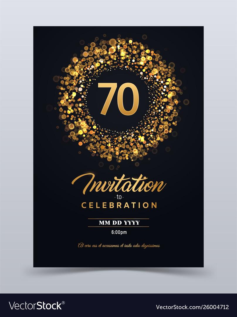 5 years anniversary invitation card template Vector Image