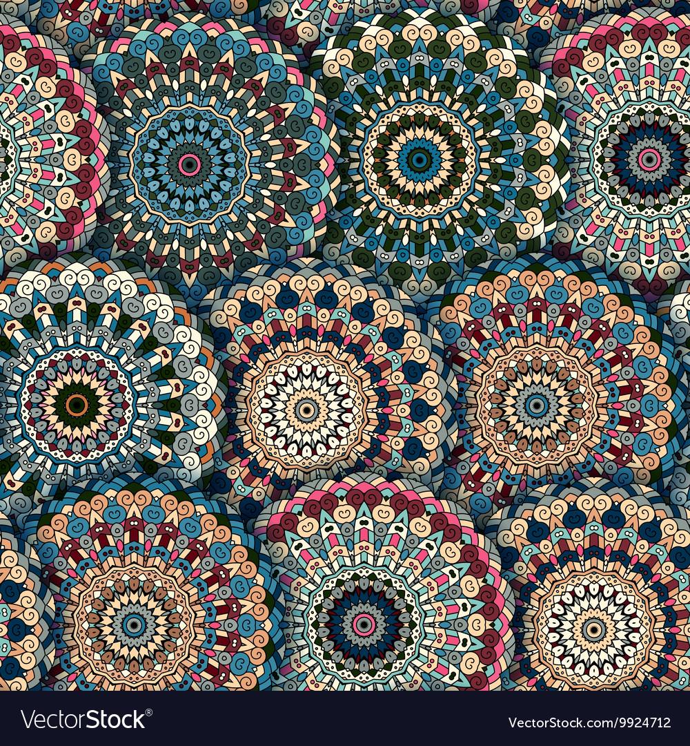 Boho chic flower seamless pattern Elegant