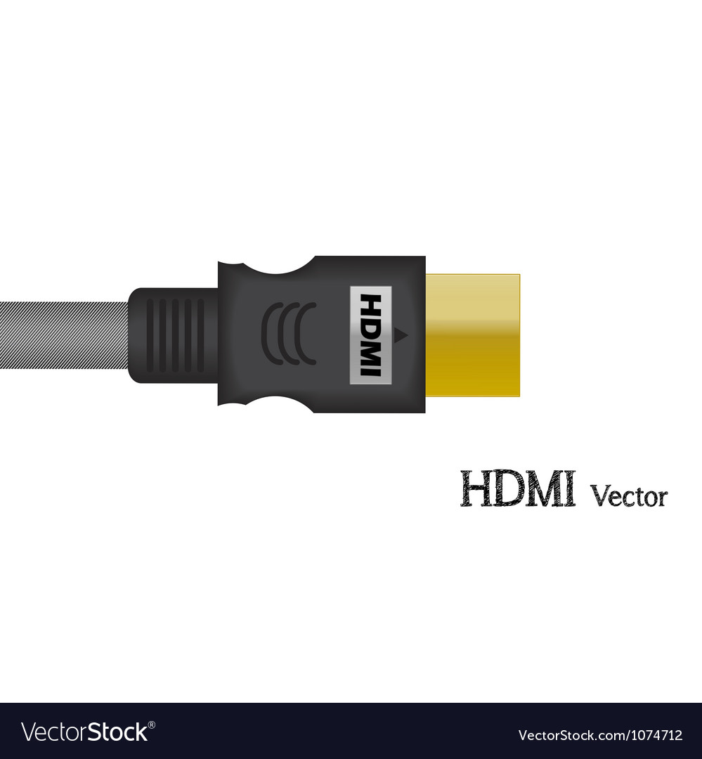 hdmi signal test television of royalty free vector image vectorstock