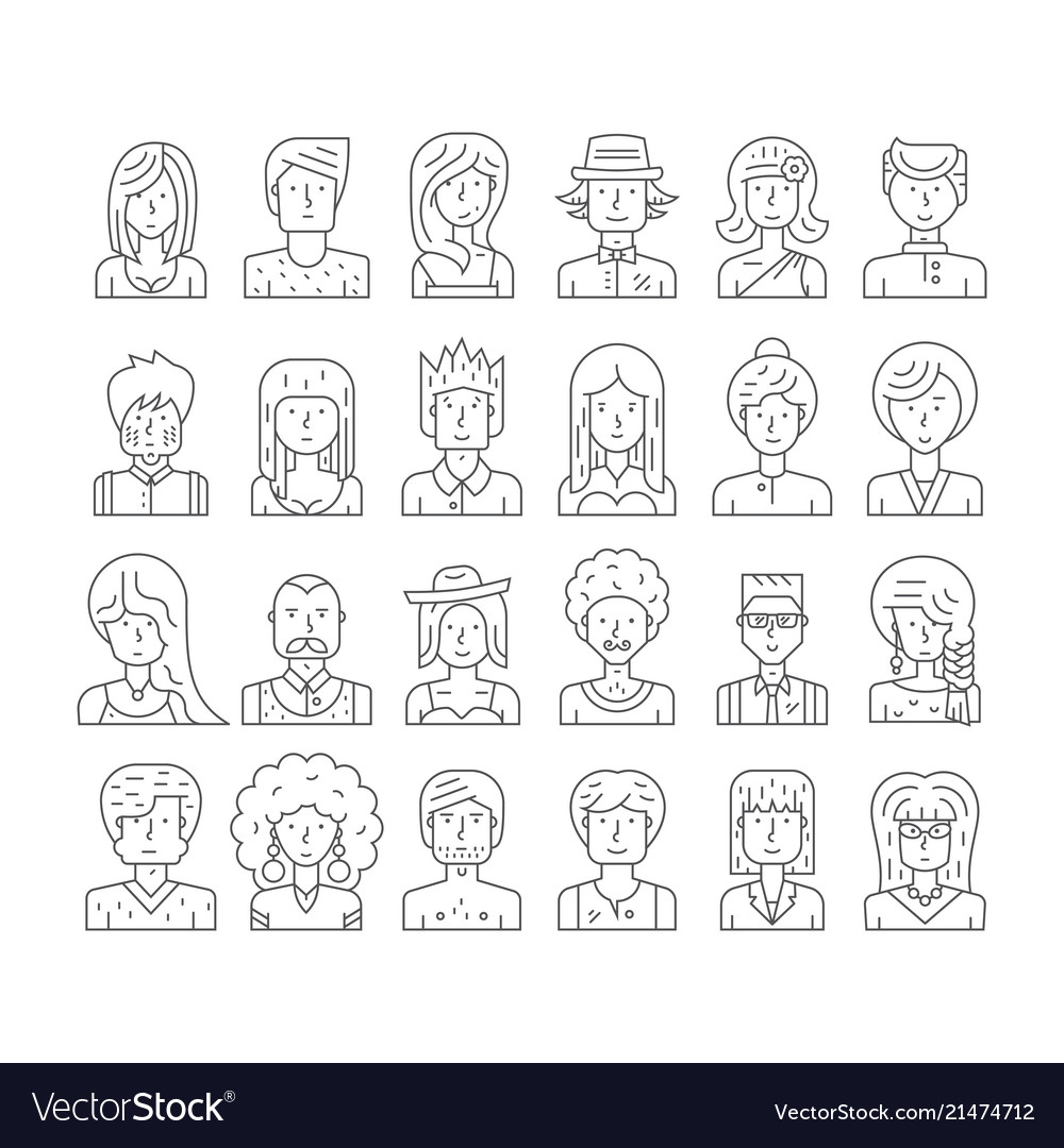 Hipster people faces
