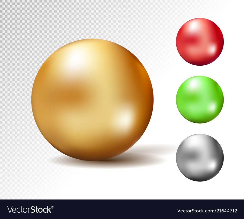 Sphere 3d glossy gold and other colors