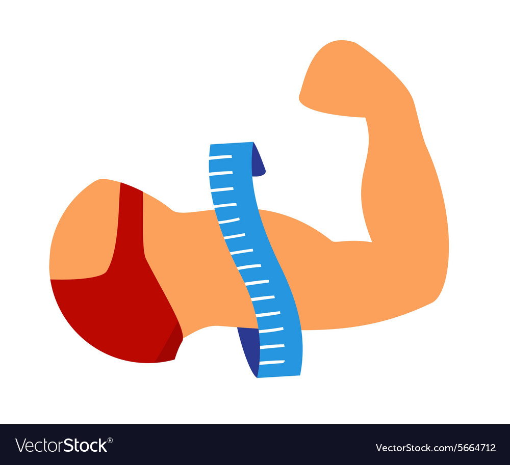 Strong biceps vector image
