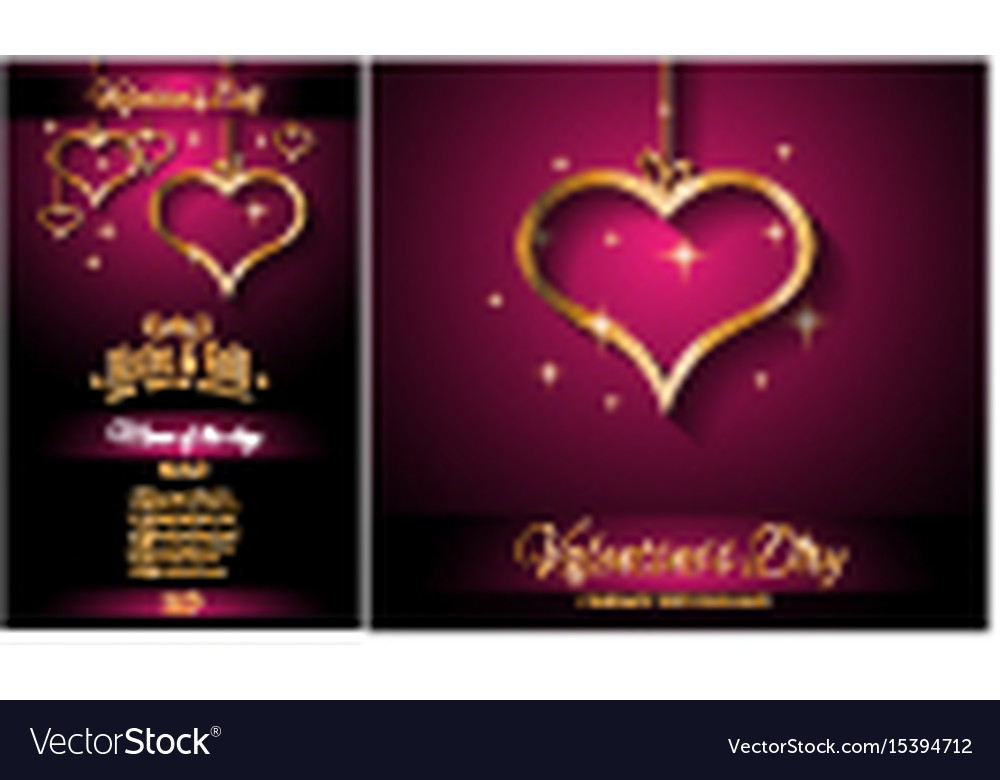 Valentines day restaurant menu template