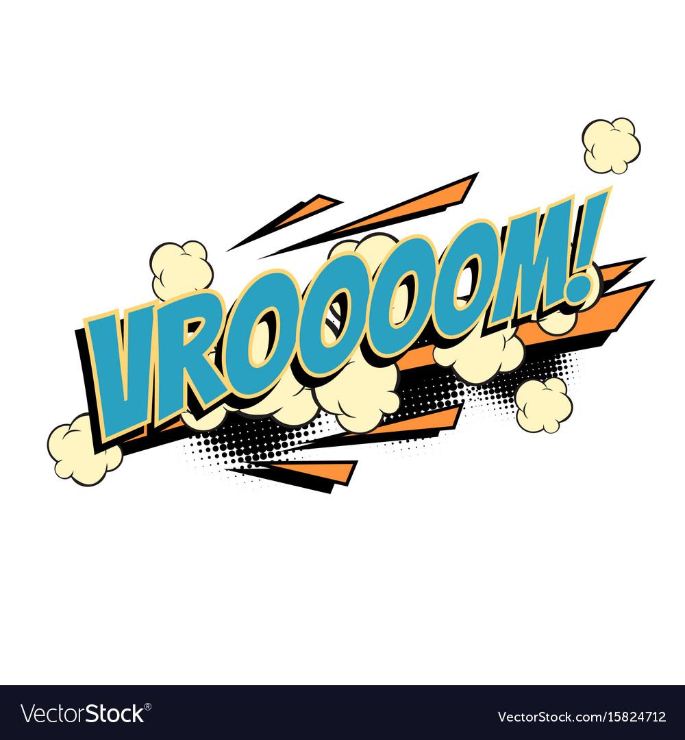 Vroom comic word vector image