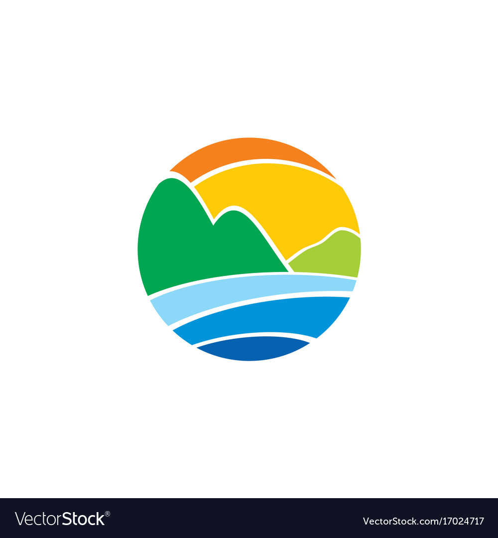 Abstract round earth environment nature logo
