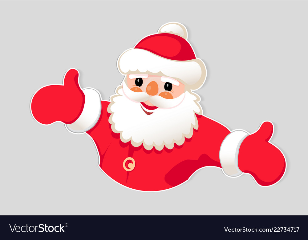 Christmas Drawing Of A Silhouette Of A Santa Claus
