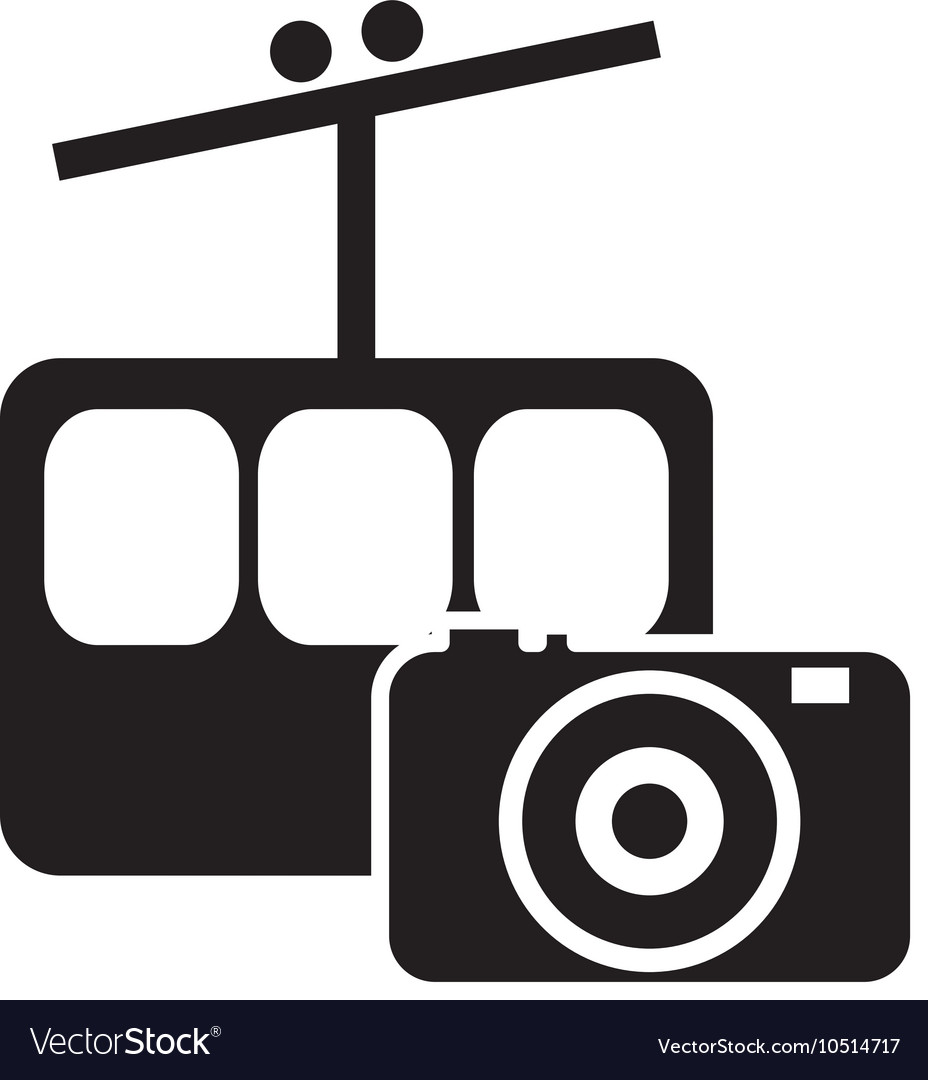 Funicular and photographic camera icon