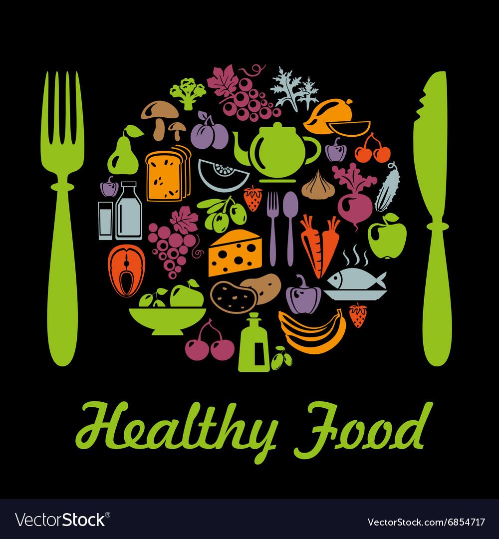 HealthyPlate vector image