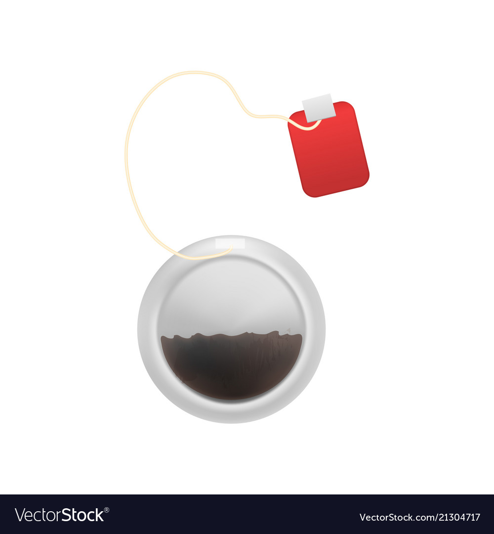 Realistic detailed 3d tea bag