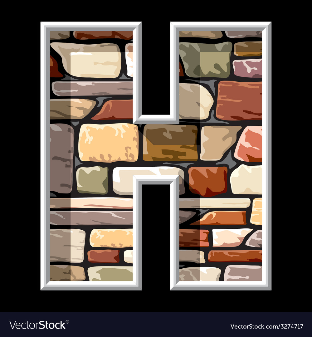 Stone letter H