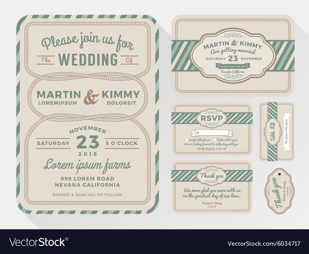Wedding Invitation Sets For In A Rope
