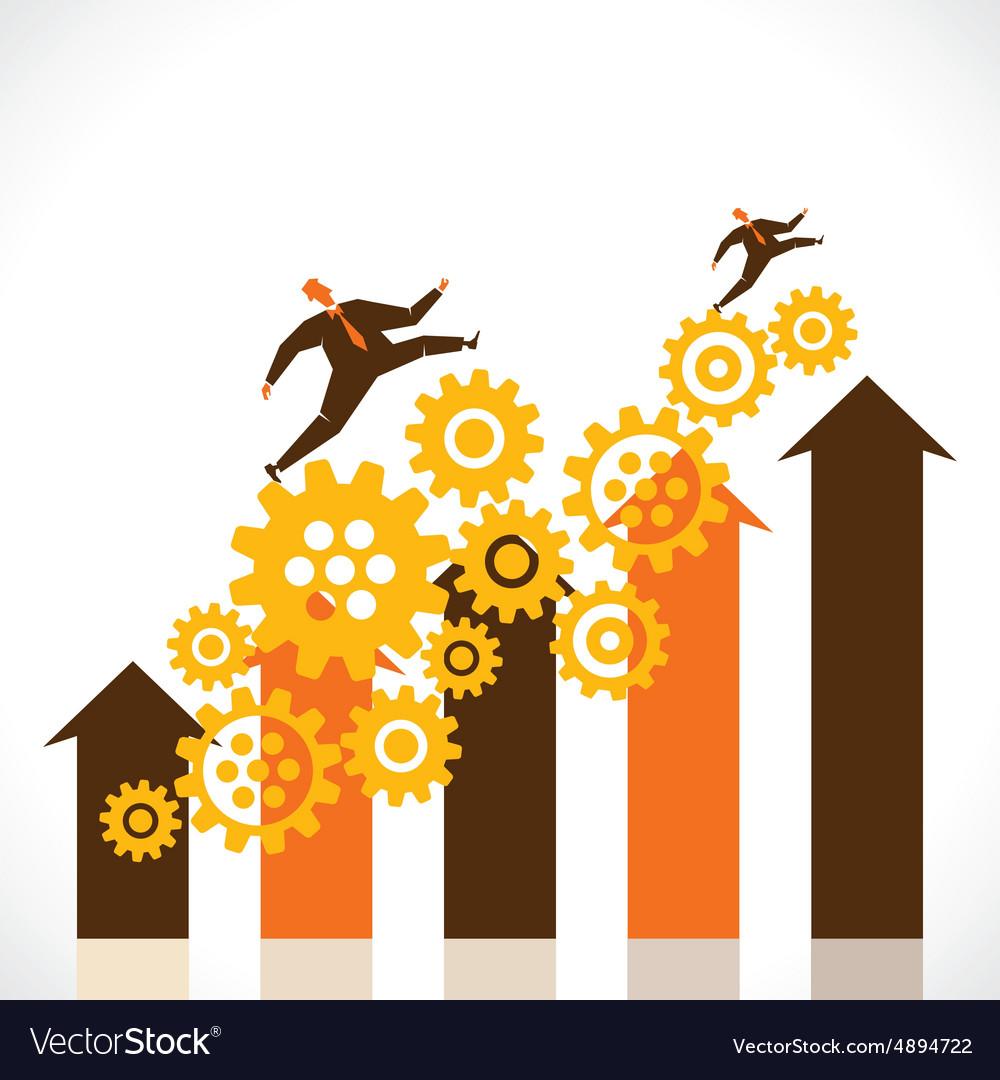 Business progress graph stock
