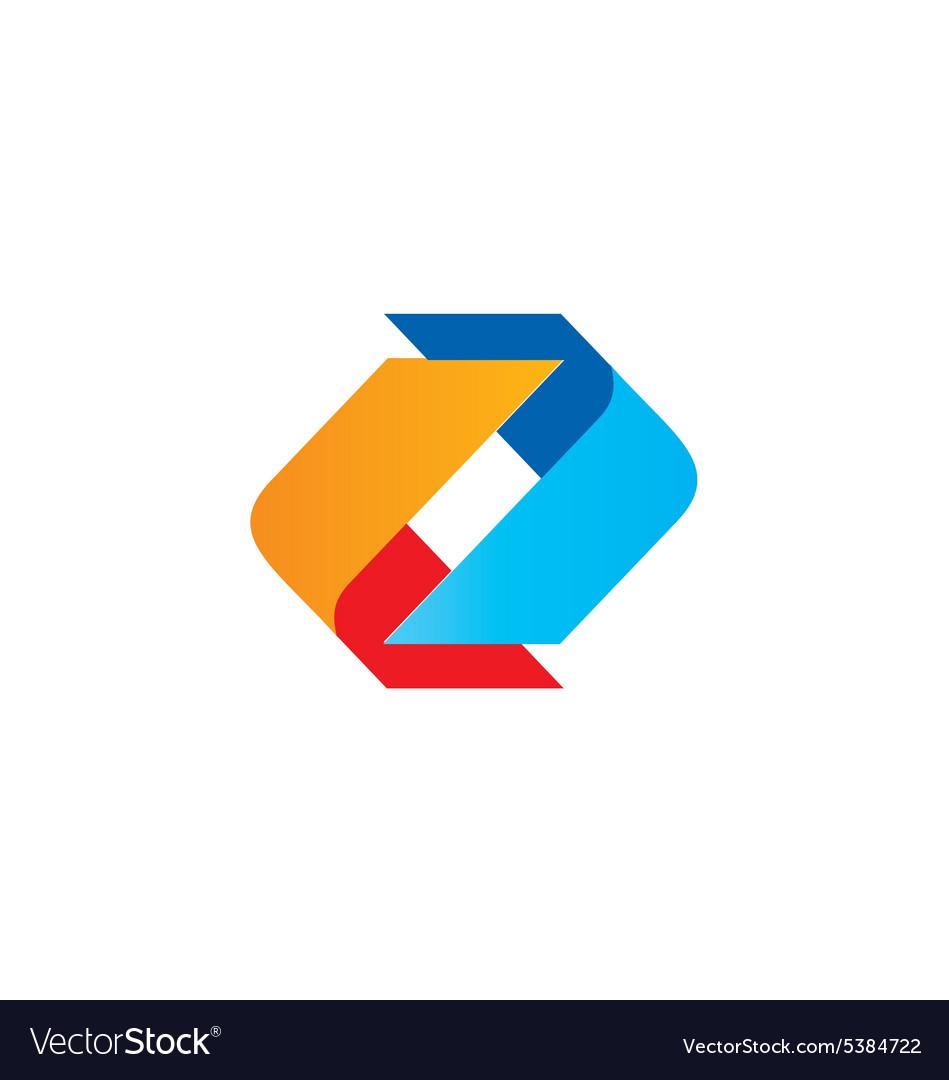 Circle shape color technology logo