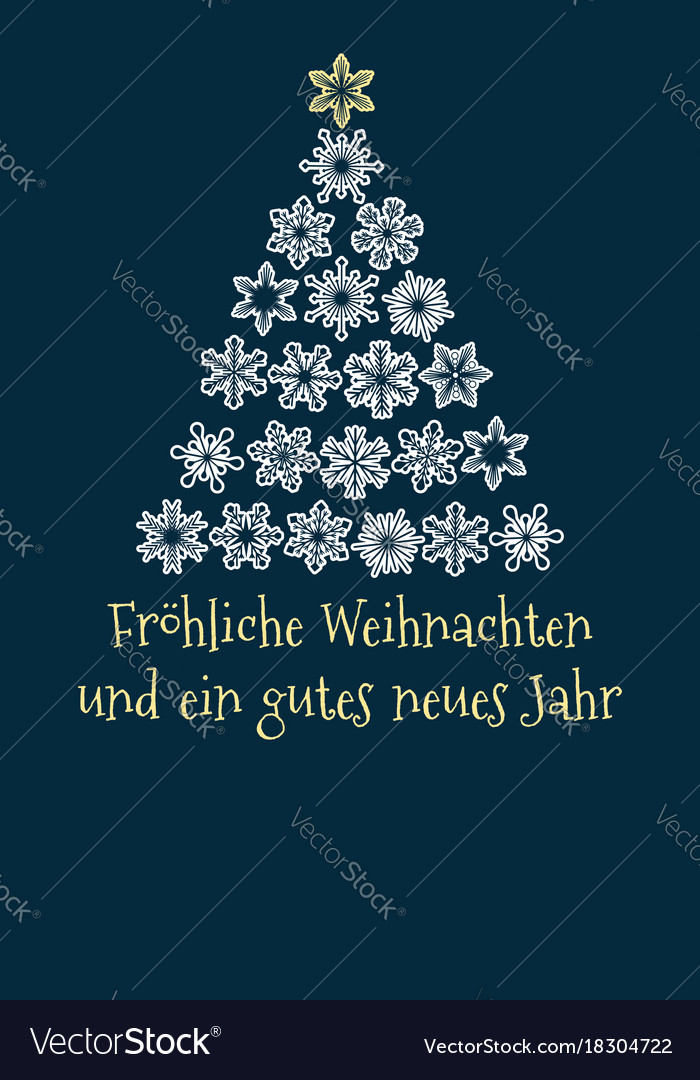 German christmas and new year greeting card vector image m4hsunfo