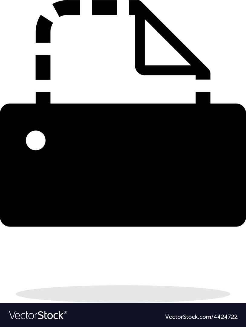 Printer icon on white background vector image