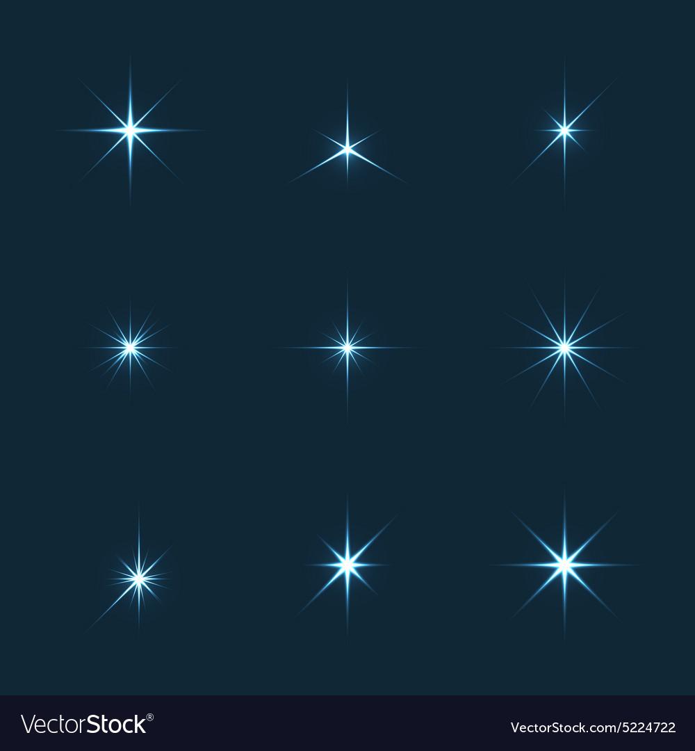 Set of sparkle lights stars