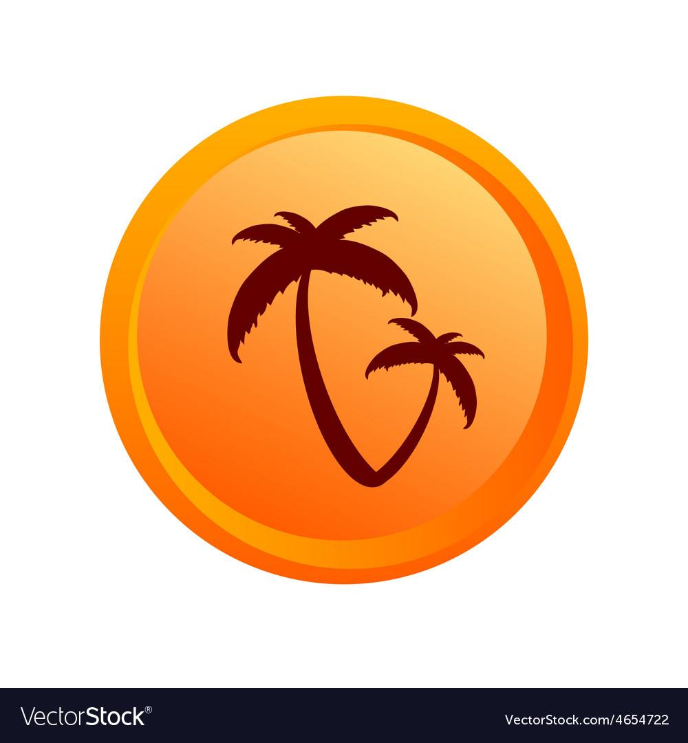 Sticker palm orange
