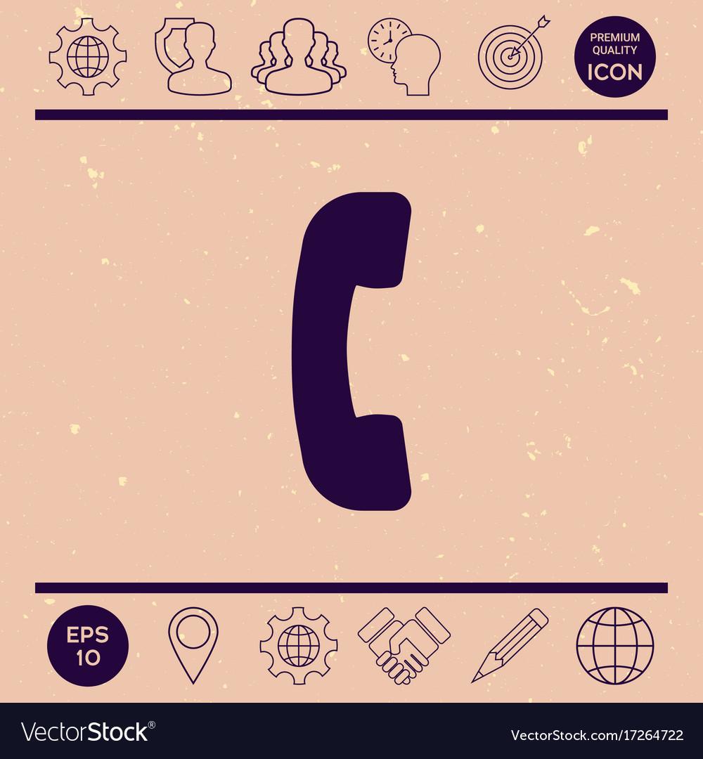 Telephone handset telephone receiver symbol icon