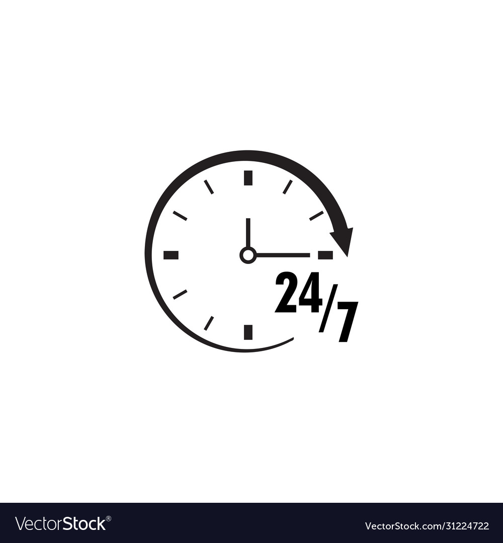 Time 247 icon design template isolated