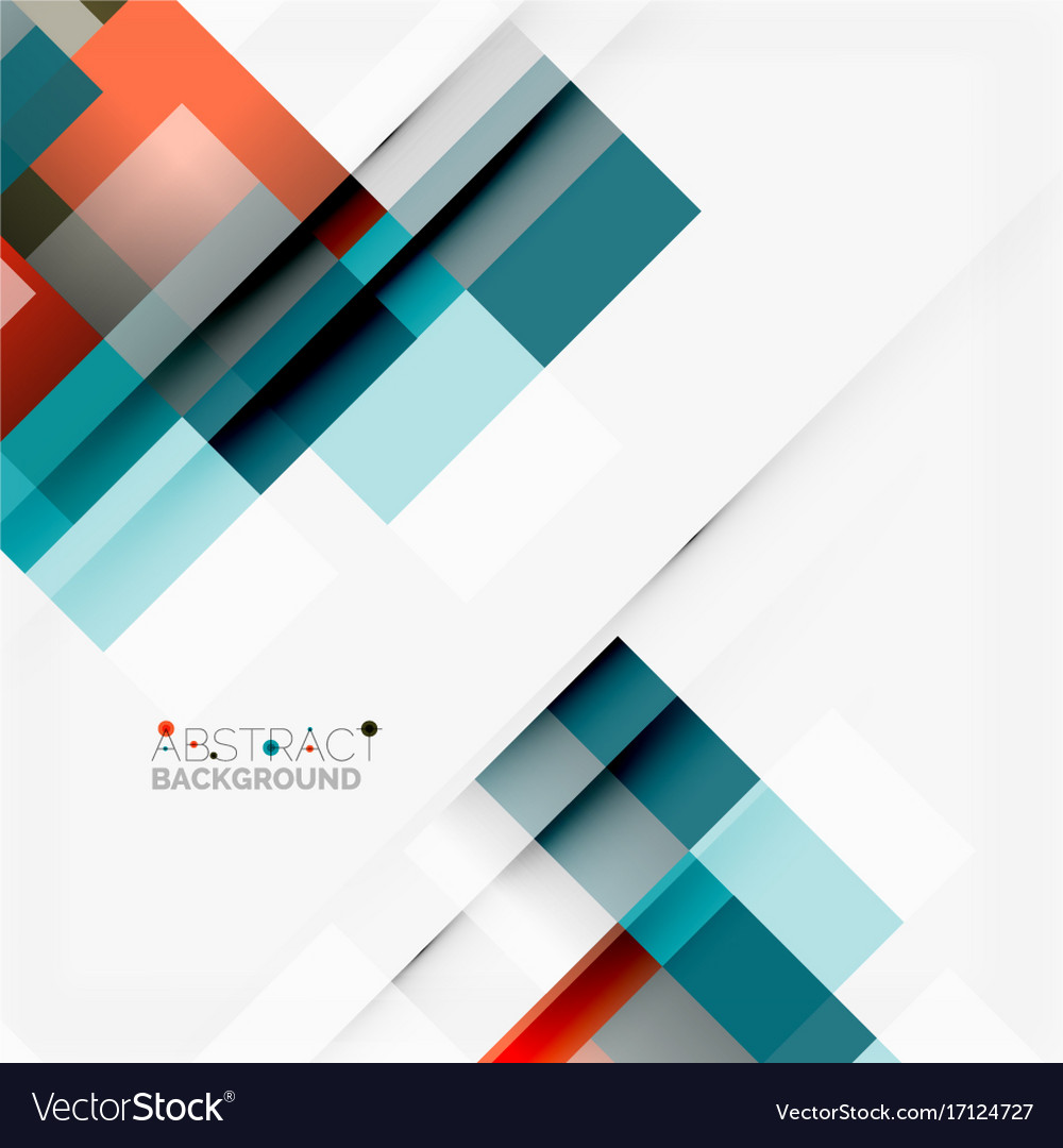 Abstract Blocks Template Design Background Simple Vector Image