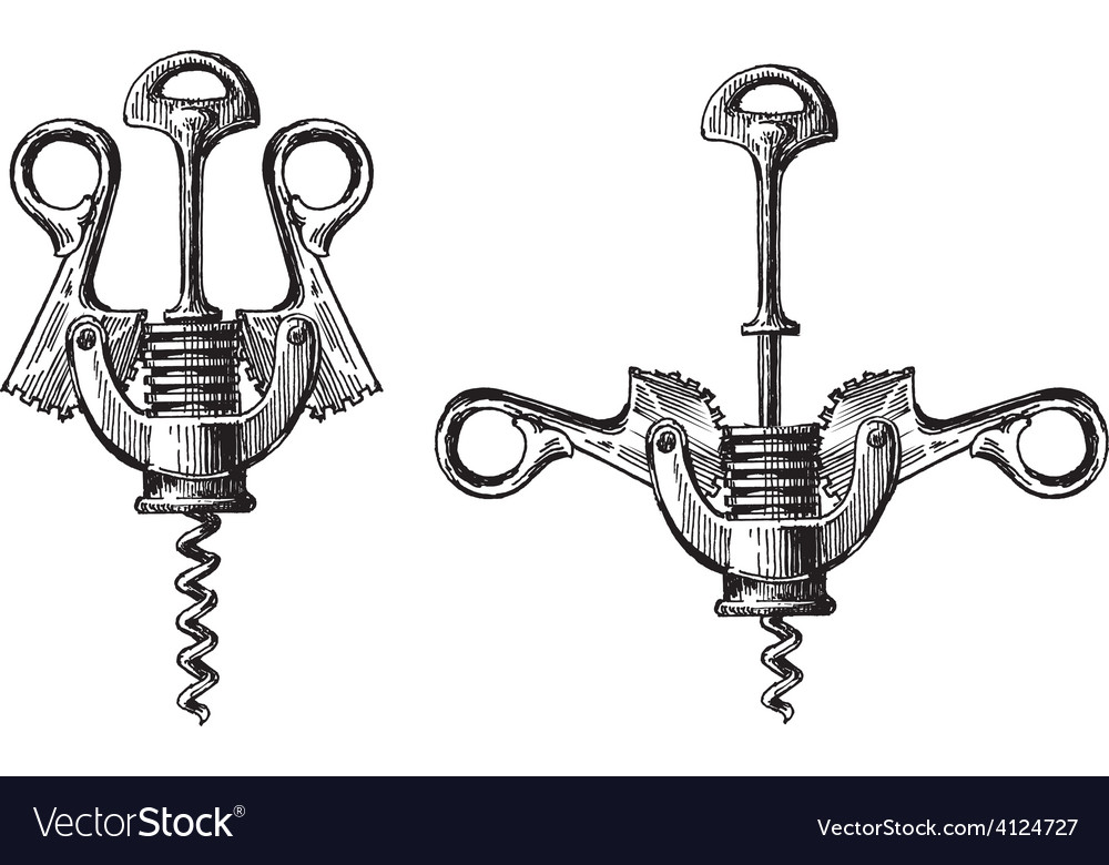 Corkscrew metal logo design template