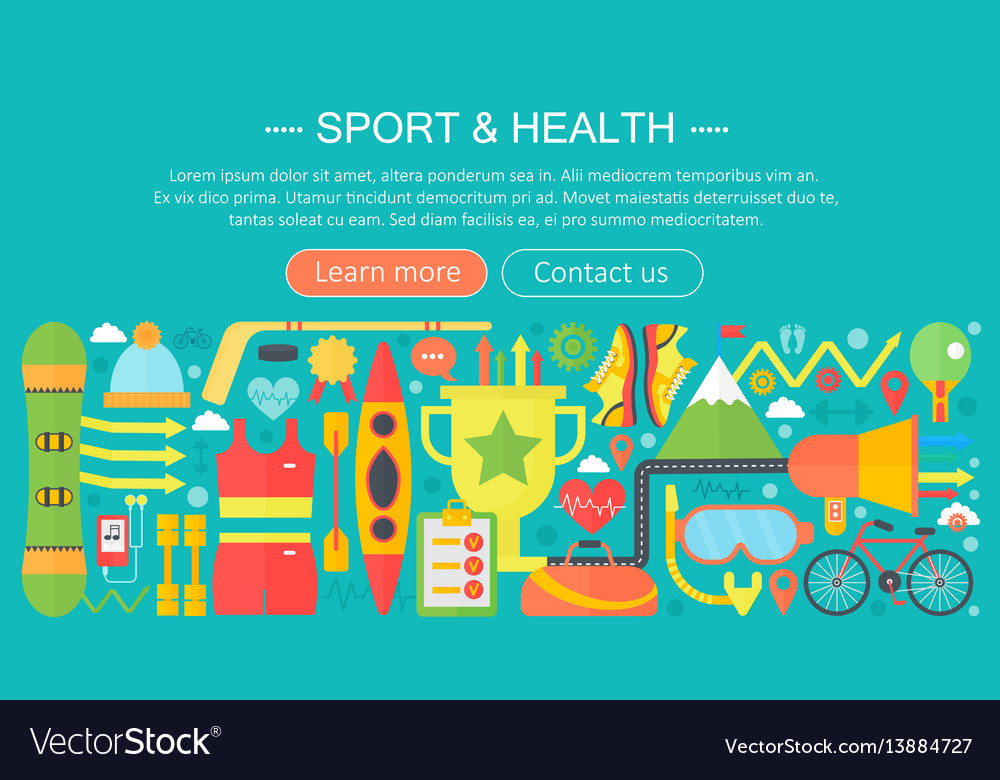 Healthy lifestyle concept with food and sport