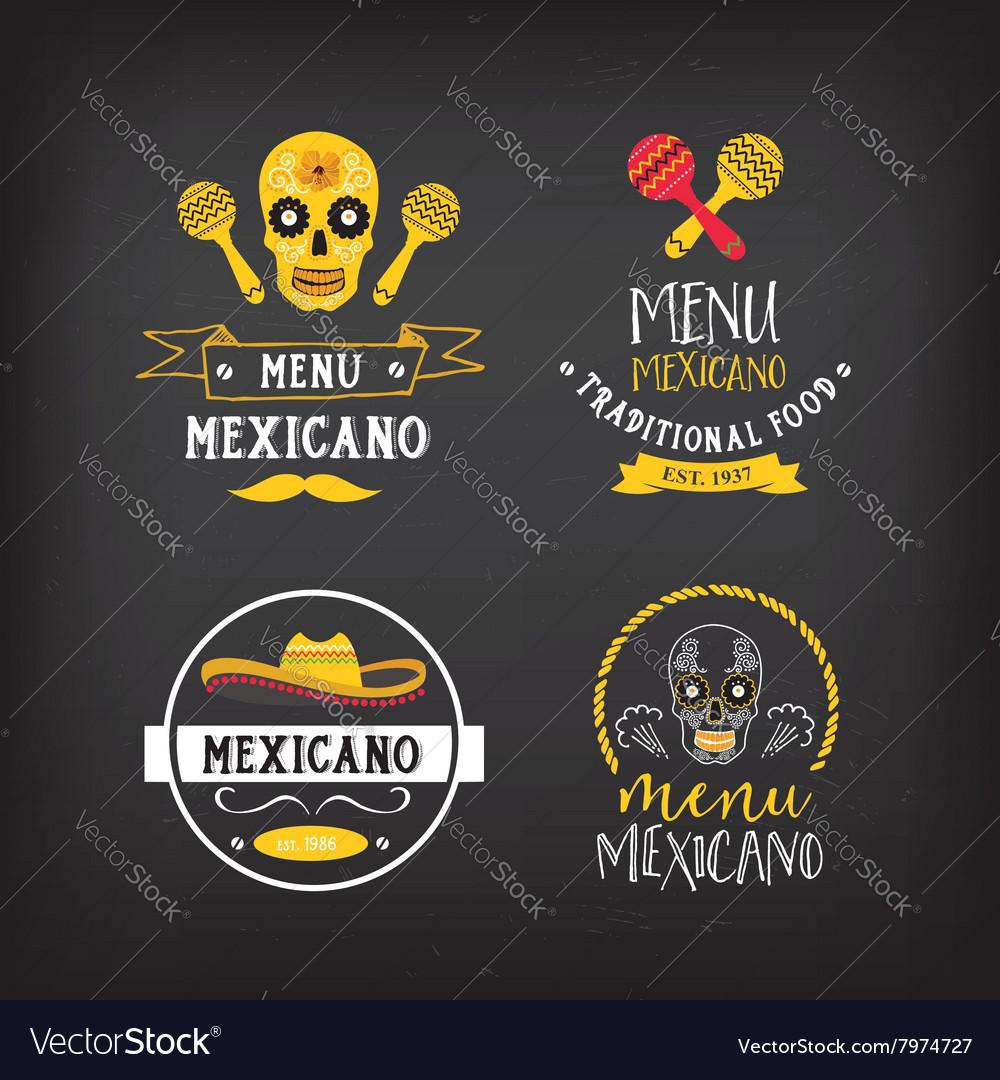Menu mexican logo and badge design