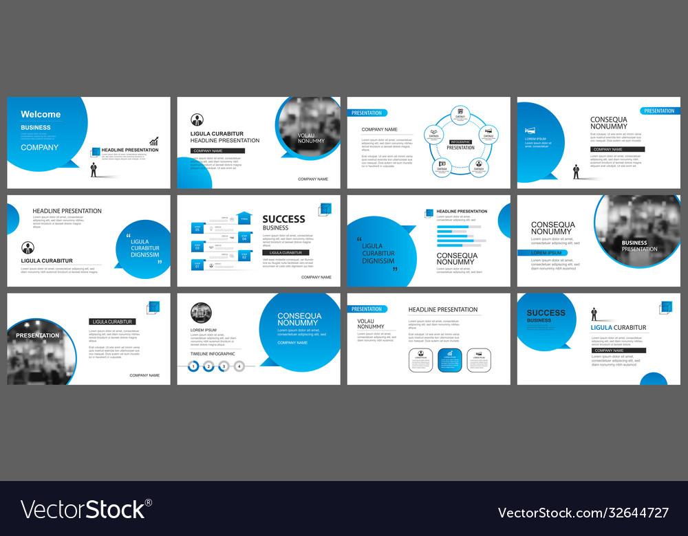 Presentation and slide layout template design